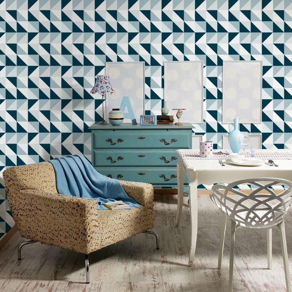 Papel de parede adesivo geom trico mosaico stickdecor for Mosaico adesivo 3d