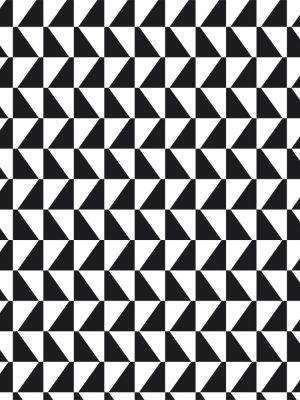 Papel de Parede Adesivo Geométrico Mosaico Preto e Branco