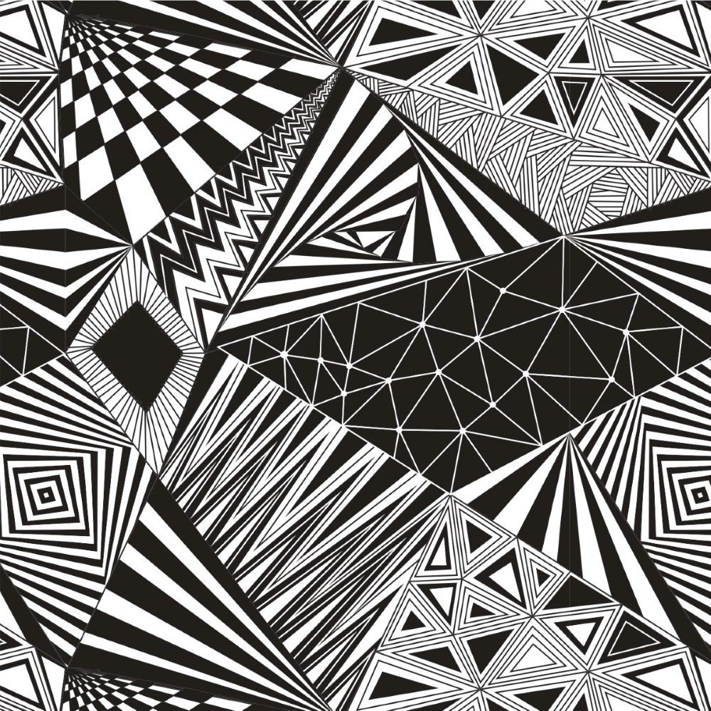 Adesivo De Francesinha Onde Comprar ~ Papel de Parede Adesivo Geométrico Preto e Branco StickD
