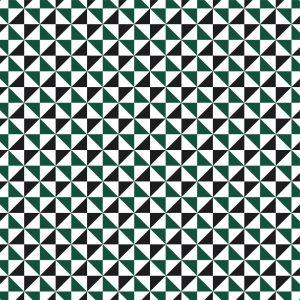 Papel de Parede Adesivo Geométrico Preto e Verde