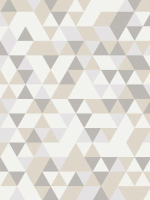 Papel de Parede Adesivo Geométrico Tons de Bege