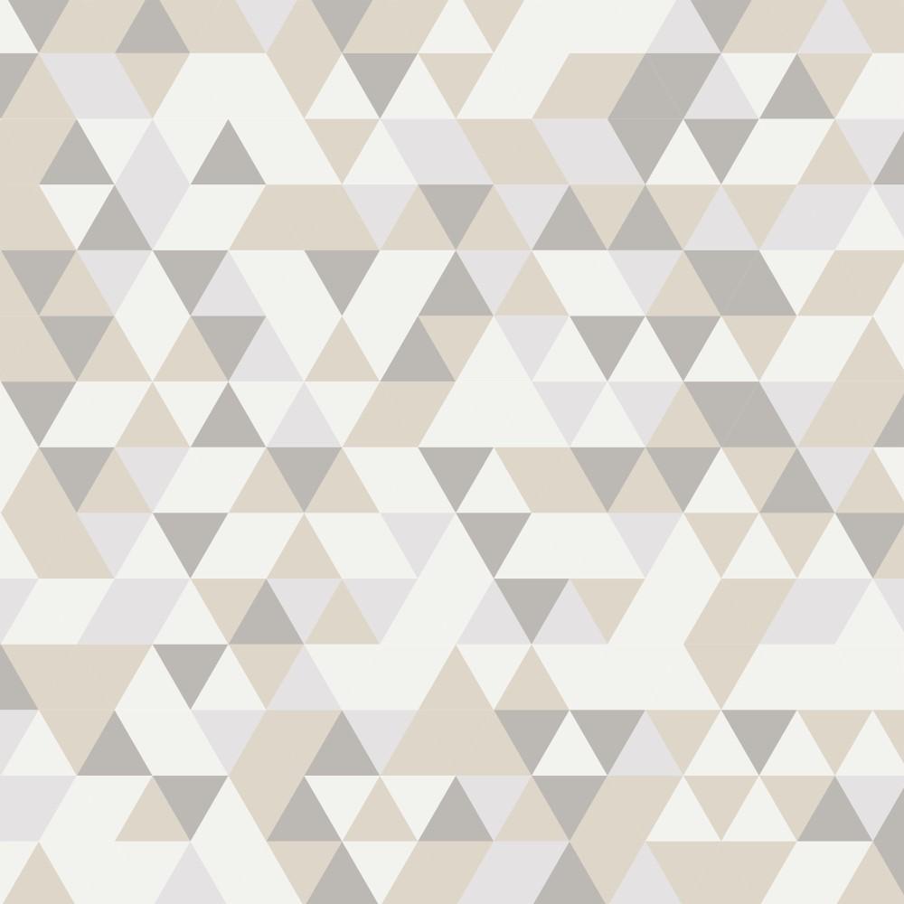 Artesanato Portugues Revenda ~ Papel de Parede Adesivo Geométrico Tons de Bege StickDecor