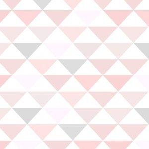 Papel de Parede Adesivo Geométrico Triangulos Rosa e Cinza