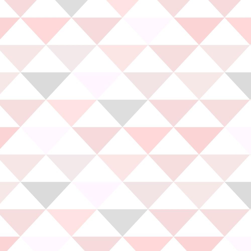 Adesivo De Parede Geométrico ~ Papel de Parede Adesivo Geométrico Triangulos Rosa e Cinza StickDecor