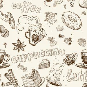 Papel de Parede Adesivo Gourmet Café Capuccino