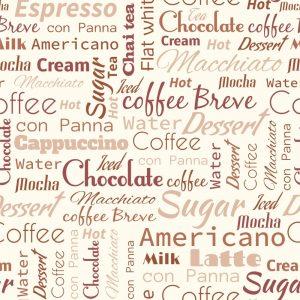 Papel de Parede Adesivo Gourmet Café