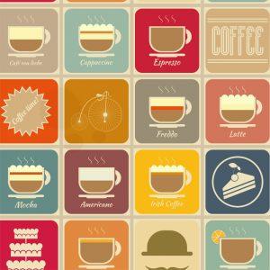 Papel de Parede Adesivo Gourmet Coffee Time