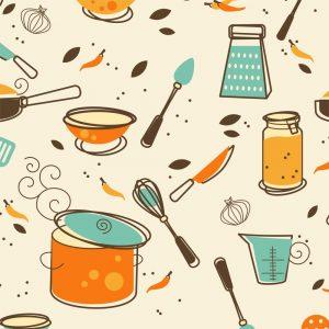 Papel de Parede Adesivo Gourmet Cozinha de Outono