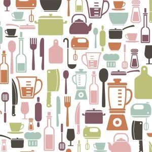 Papel de Parede Adesivo Gourmet Cozinha