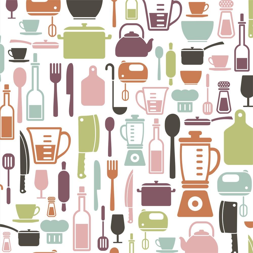 Artesanato Para Cozinha De Tecido ~ Papel de Parede Adesivo Gourmet Cozinha StickDecor