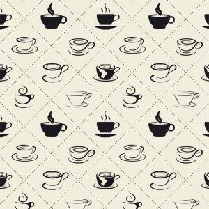 Papel de Parede Adesivo Gourmet Hora do Café