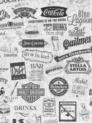 Papel de Parede Adesivo Gourmet Labels