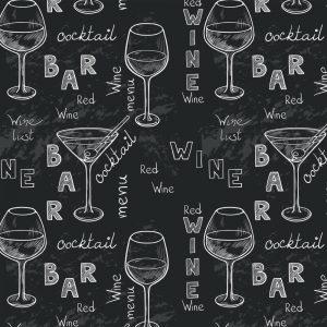 Papel de Parede Adesivo Gourmet Vinho Negro