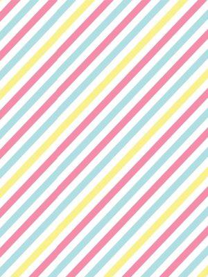 Papel de Parede Adesivo Listras Coloridas Diagonal