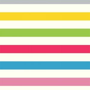 Papel de Parede Adesivo Listras Coloridas Horizontal
