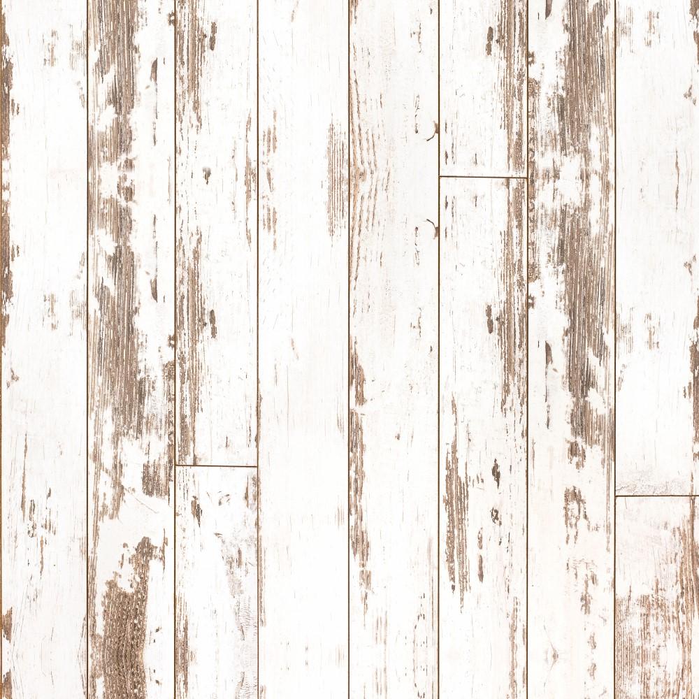Aparador De Livros Turquesa ~ Papel de Parede Adesivo Madeira Branca 024 StickDecor