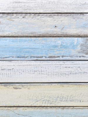 Papel de Parede Adesivo Madeira Rústica Azul