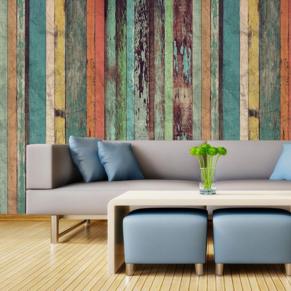 Papel adesivo de parede madeira - Papel para revestir paredes ...