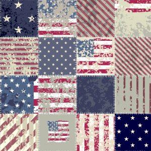 Papel de parede Adesivo Patchwork EUA