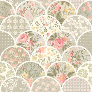 Papel de Parede Adesivo Patchwork Floral