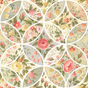 Papel de parede Adesivo Patchwork Flores
