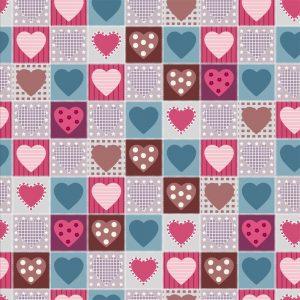 Papel de parede Adesivo Patchwork Love