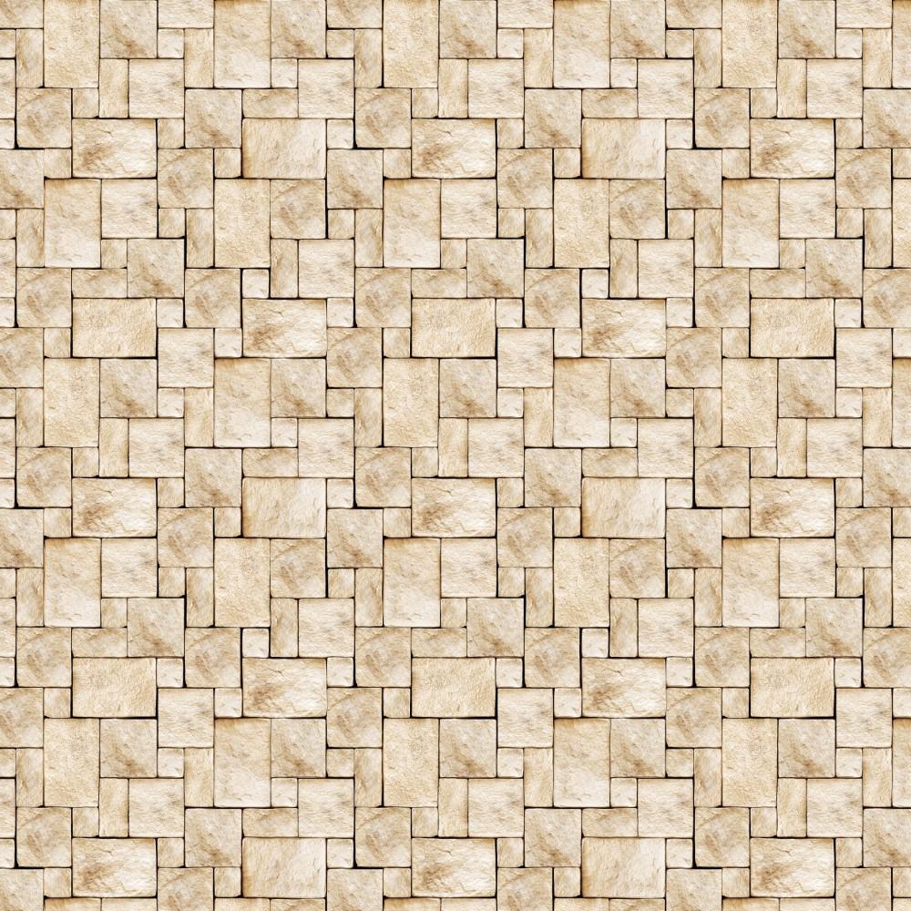 Papel de parede adesivo pedra bege stickdecor - Cenefas de papel para paredes ...