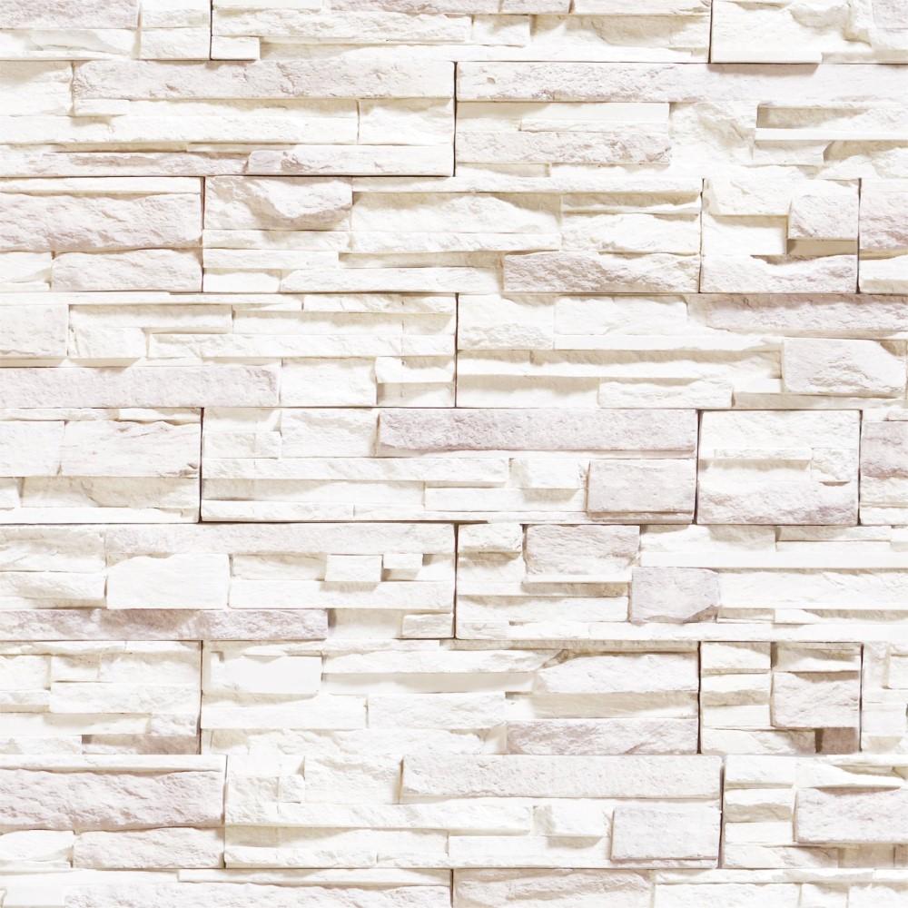 Papel de parede adesivo pedra branca stickdecor for Papel de pared rustico