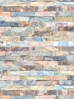 Papel de Parede Adesivo Pedra Canjiquinha Colorida