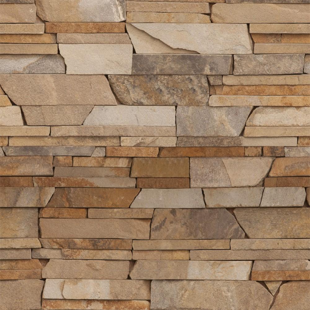 Papel De Parede Adesivo Pedra Canjiquinha Marrom Stickdecor -> Papel De Parede De Pedra