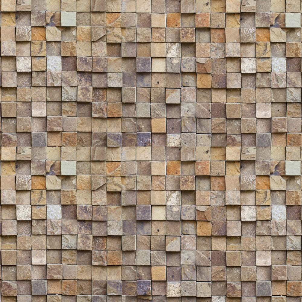 Armario Lulu Tienda Line ~ Papel de Parede Adesivo Pedra Canjiquinha Quadrada StickDecor