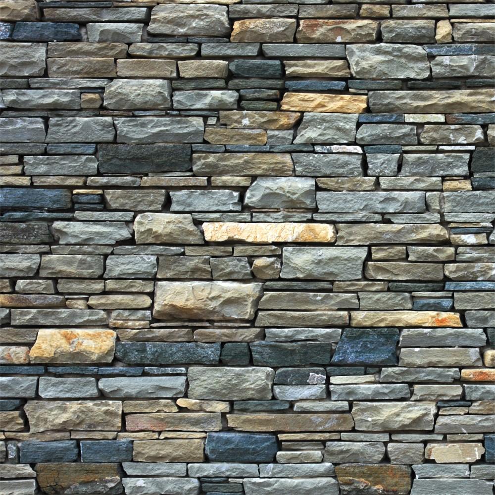 Papel De Parede Adesivo Pedra Colorida Stickdecor -> Papel De Parede De Pedra