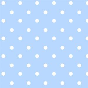 Papel de Parede Adesivo Poá Azul Bebê