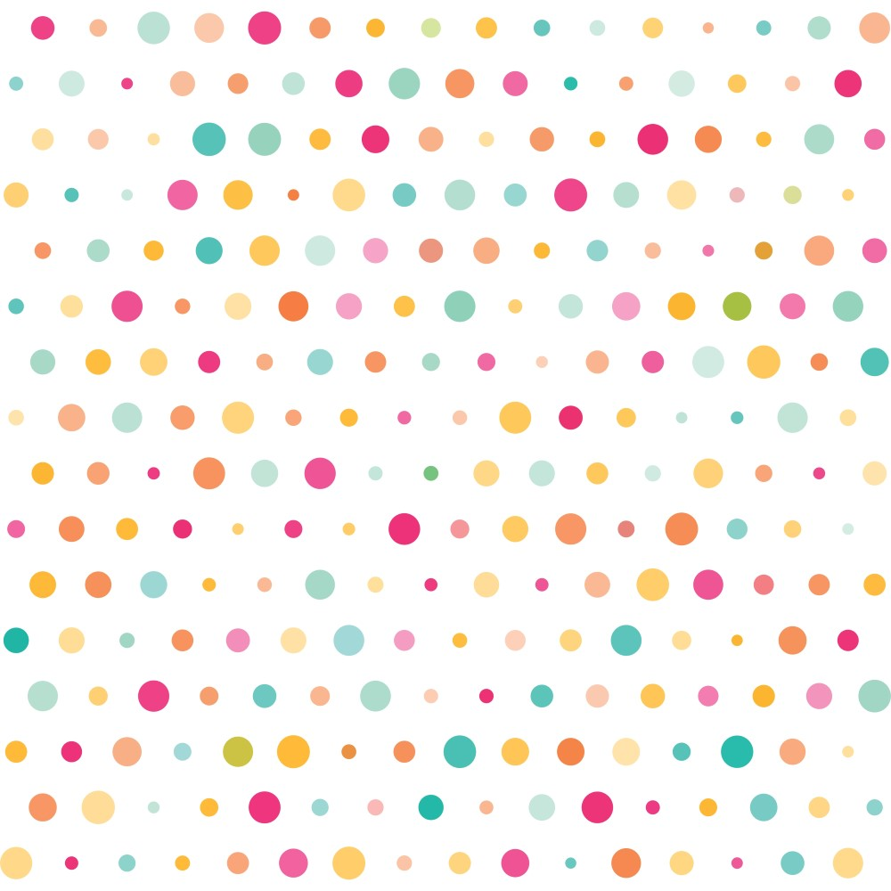 Armario Nicho Quarto ~ Papel de Parede Adesivo Poá Colors StickDecor