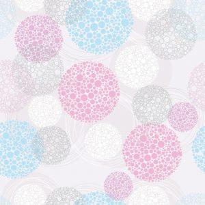 Papel de Parede Adesivo Poás Rosa e Azul