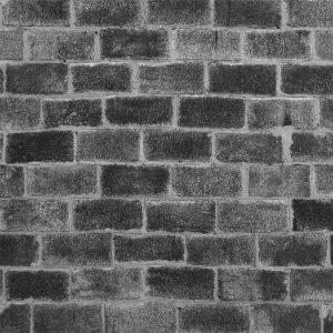 Papel de Parede Adesivo Tijolo Black Brick