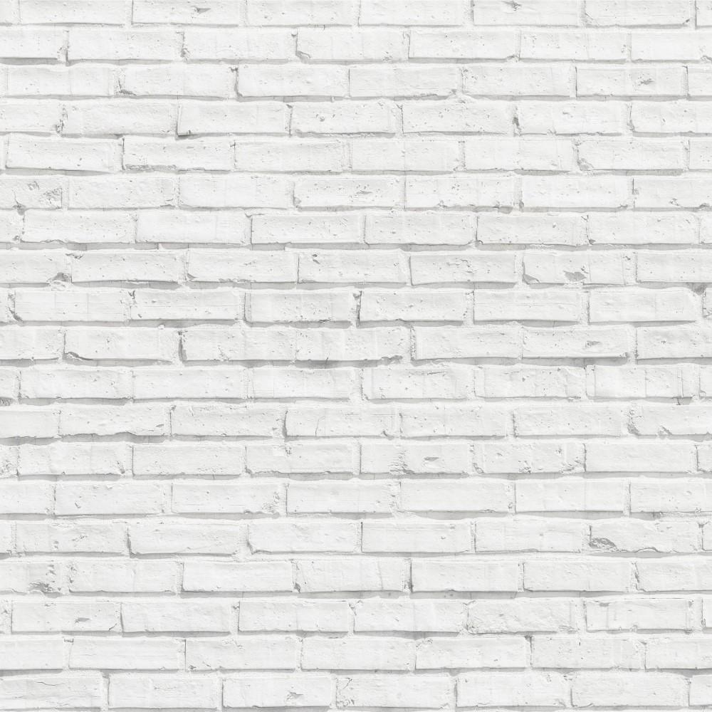 Papel de Parede Adesivo Tijolo Branco 030 StickDecor