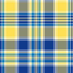 Papel de Parede Adesivo Xadrez Amarelo e Azul