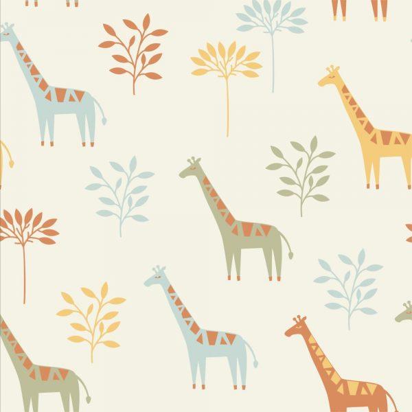 Papel de Parede Adesivo Teens Girafa