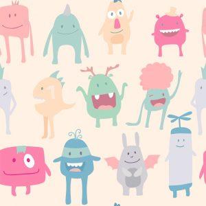 Papel de Parede Adesivo Teens Monsters