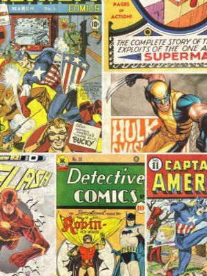 Papel de Parede Adesivo Quadrinhos Comic