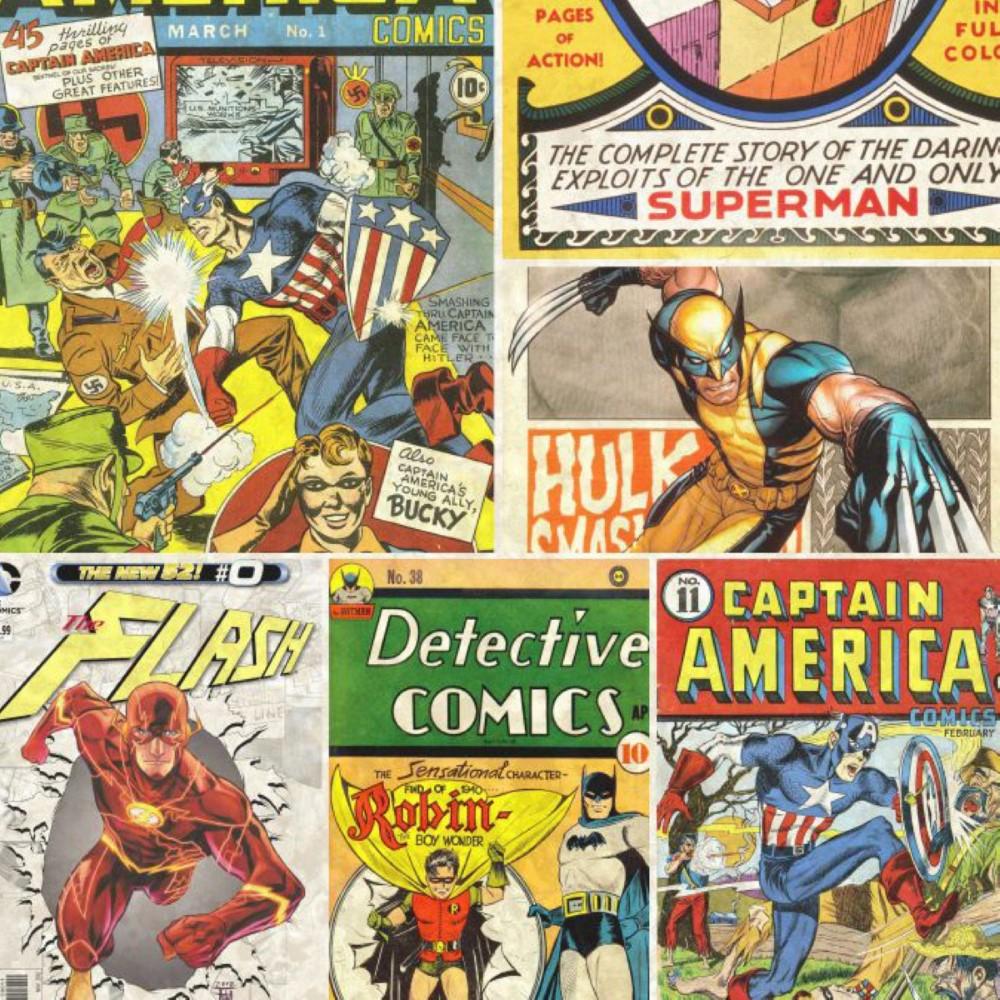 Papel de parede adesivo quadrinhos comic stickdecor - Papel pared comic ...