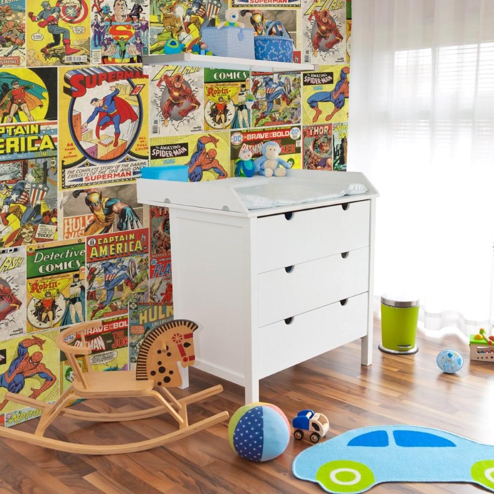 Papel De Parede Adesivo Quadrinhos Comic Stickdecor ~ Papel De Parede Para Quarto Infantil Personagens