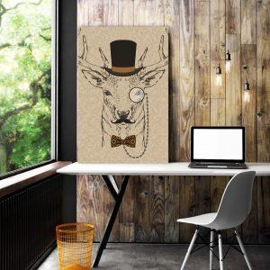 Placa Decorativa Alce Hipster