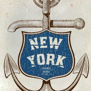 Placa Decorativa Ancora New York