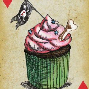 Placa Decorativa Baralho Cupcake