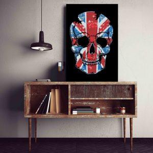 Placa Decorativa Caveira UK
