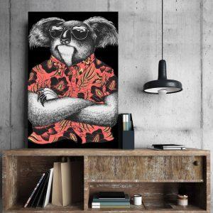 Placa Decorativa Coala Hipster