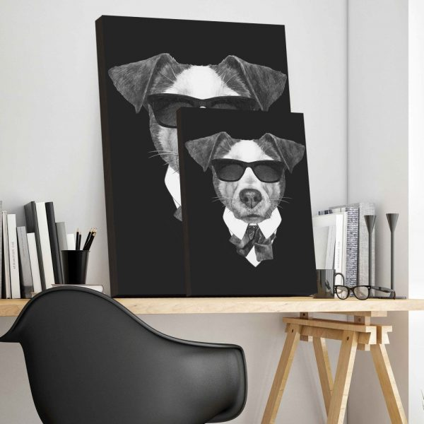 Placa Decorativa Dog Black
