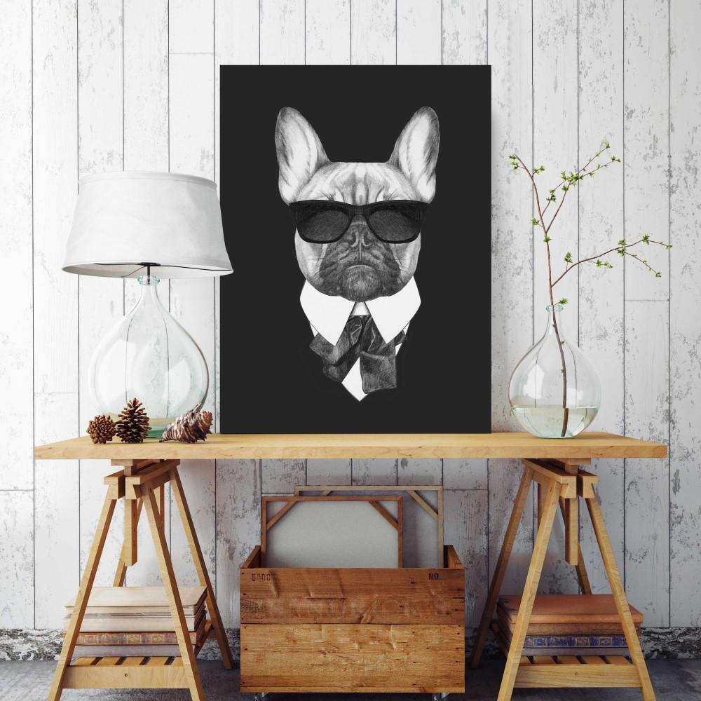 Placa decorativa dog black 306 stickdecor for Art decoration pl